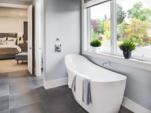 A Beautiful Tub in a Recently Remodeled Bathroom